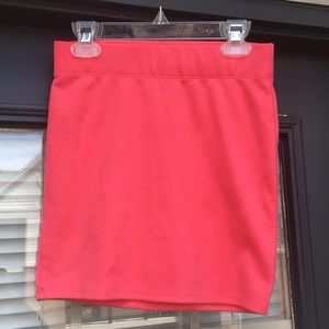 PacSun Hot Pink Body Con Skirt